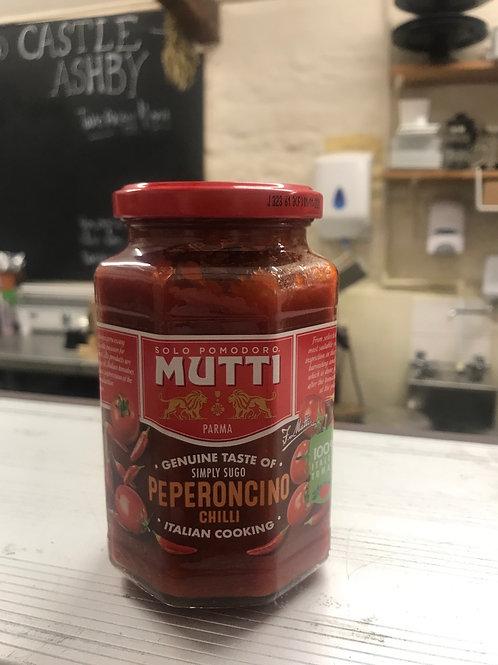 Mutti Pasta Sauce 400g Peperoncino Chilli or Vegetable