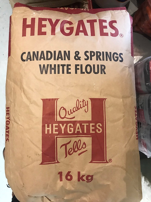 Heygates Canadian and Dprings White Bread flour 16kilo Bag