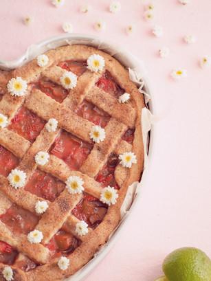 Rhubarb Pie Close Up