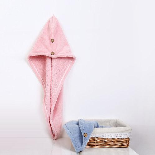 小米有品细柔速吸干发帽 #粉色