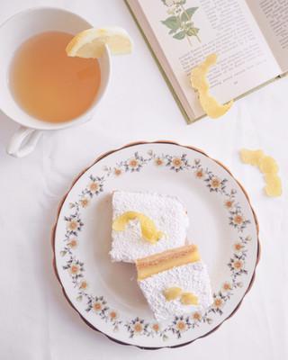 Lemon Squares Flatlay