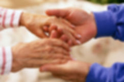 helping hands helping the elderly