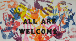 All Are Welcome Sign