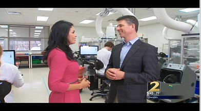 WSB-TV Atlanta Channel 2 reporter Wendy Corona with Dr