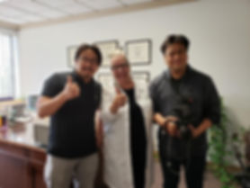 Dr. Rudert with Koreans for interview Ma