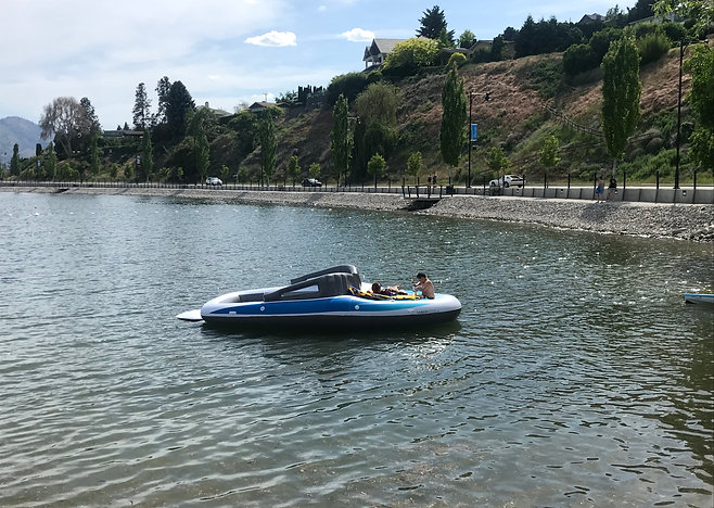 Giant 6-Person Inflatable Boat Rental