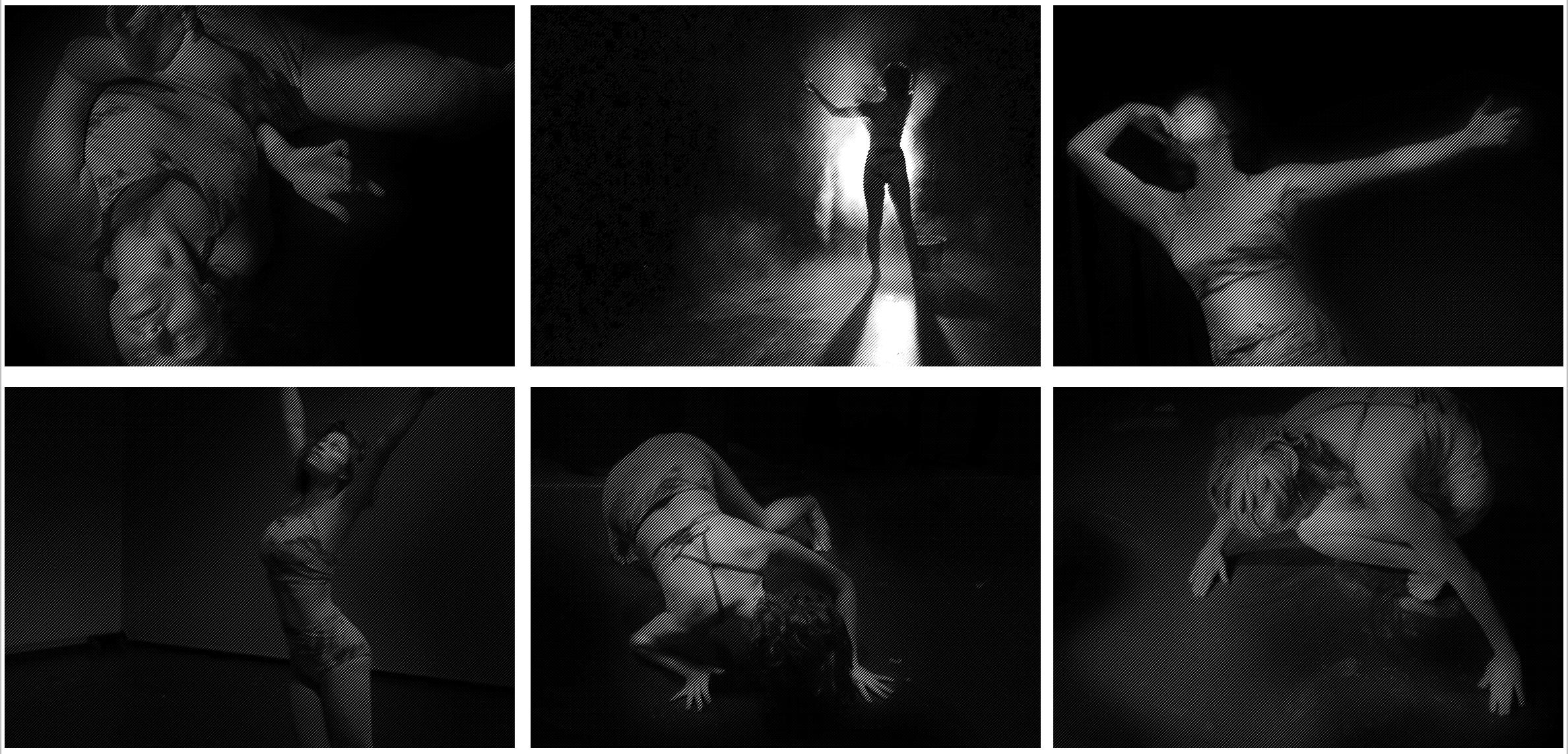 Filmstills vom tänzerischen Entwurf