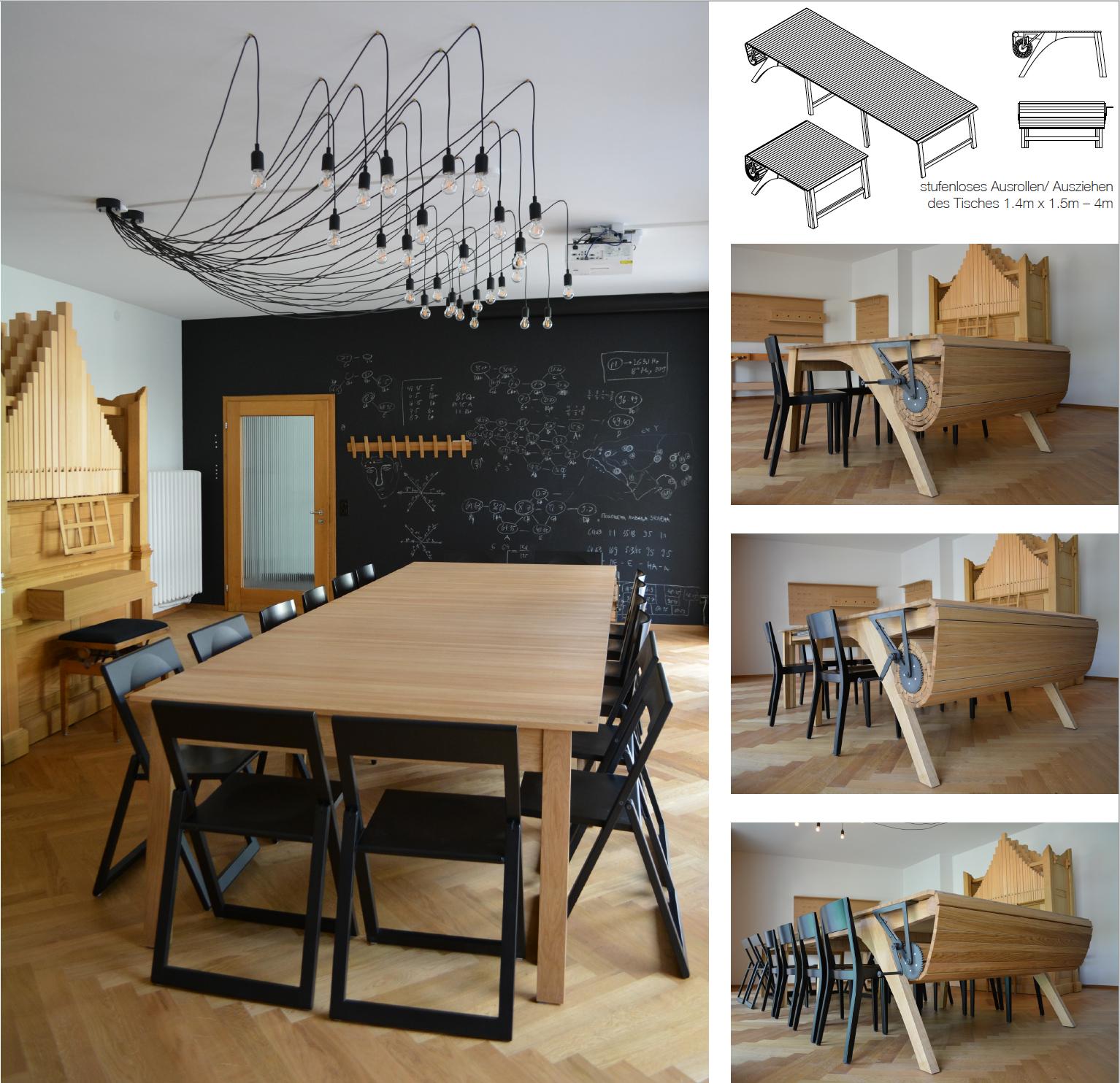 Tisch variierbar 2-4 Meter