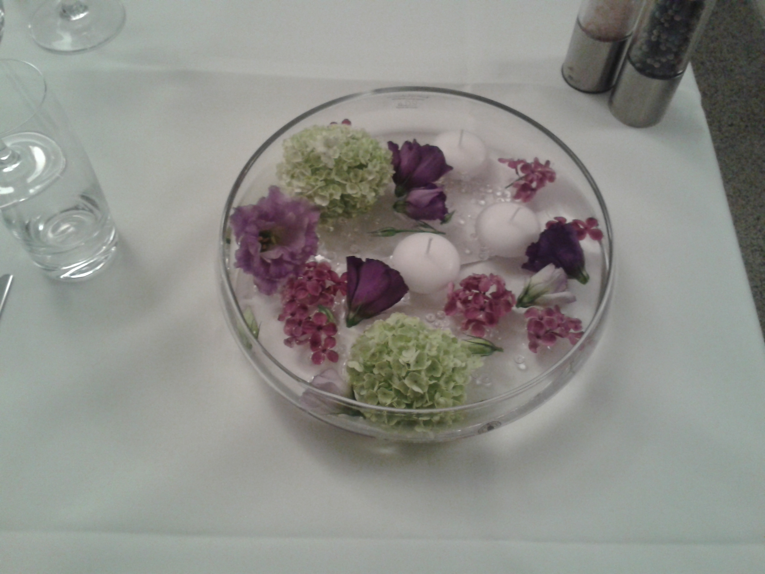 Tischdekoration | Blumen & Kerzen
