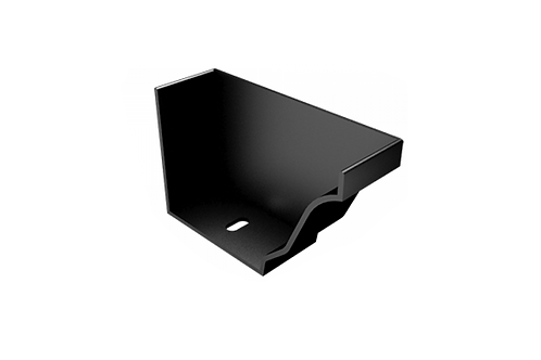 200x150mm Moulded Ogee Gutter Right Hand Stop End
