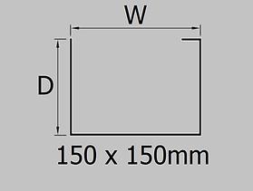 150x150mm aluminium joggle box gutter profile