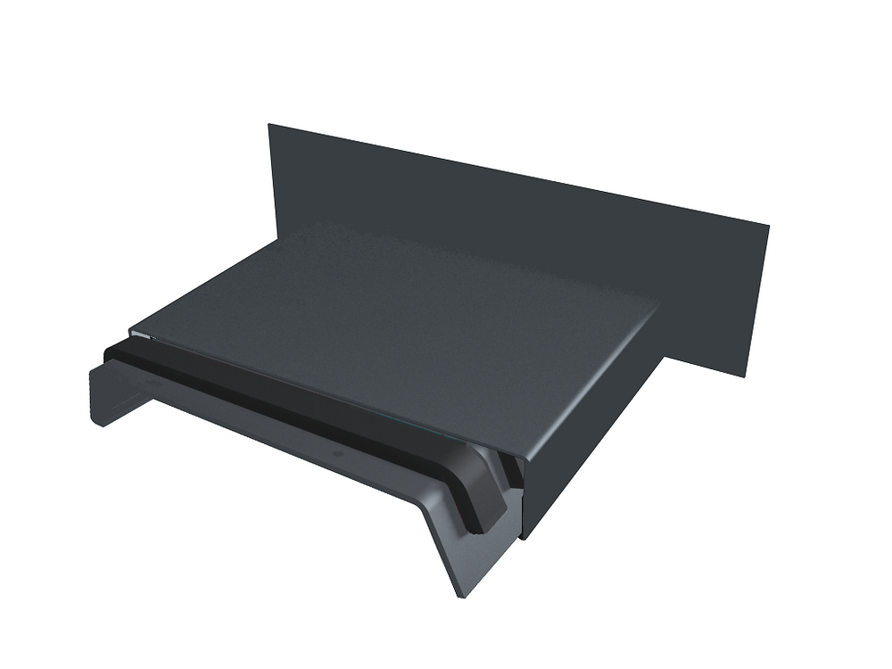 Aluminium Coping Upstand Stopend with Full Abutment