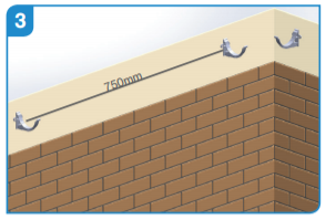 Aluminium fascia bracket maximum centres