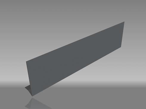 2 bend drip edge aluminium fascia