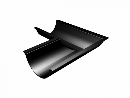 112mm Beaded Half Round Gutter 90° Angle - Universal