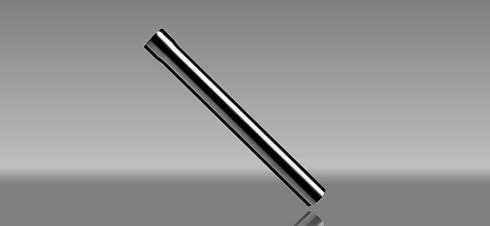 Black swaged aluminium downpipe