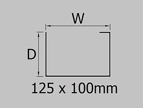 125x100mm aluminium joggle box gutter profile