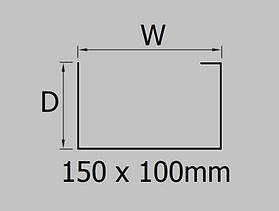 150x100mm aluminium joggle box gutter profile