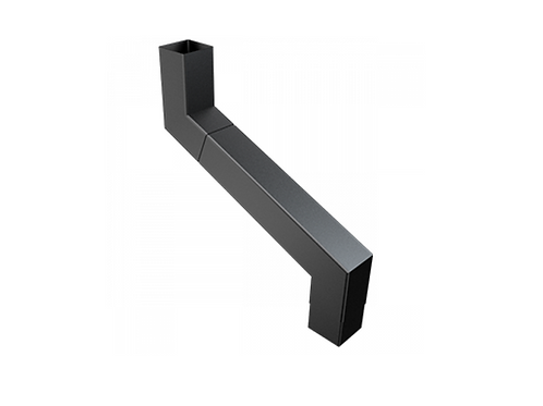 101x101mm Square Flushjoint Downpipe Adjustable Offset 1000mm Maximum Projection