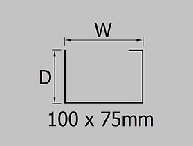 100x75mm aluminium joggle box gutter profile