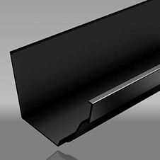 Extruded aluminium moulded ogee gutter