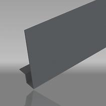 Aluminium square edge fascia