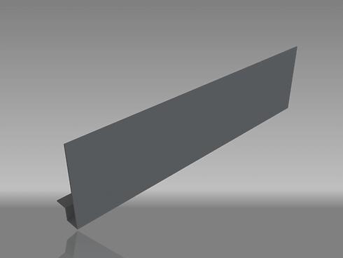 Square edge aluminium fascia