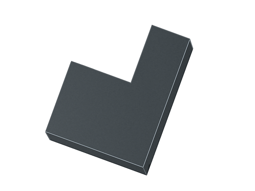 260-300mm Wall Width Coping 90° Right Hand Reducing Angle (Select Wall Width)