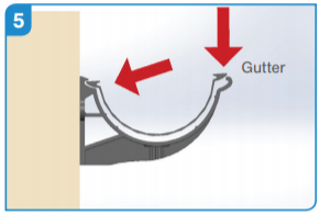Installation of aluminium gutter into aluminium fascia bracket