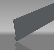 Aluminium 1 bend classic fascia