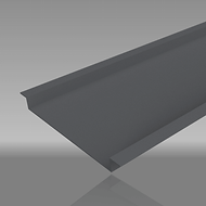 Aluminium top-hat soffit