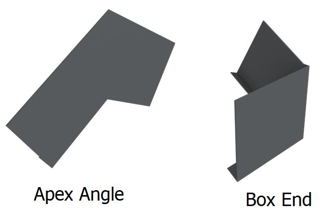 Aluminium fascia apex angle and box end