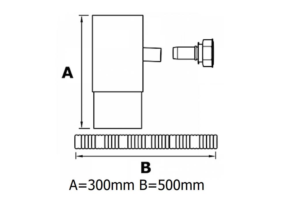 76x76mm Square Flushjoint Downpipe Water Butt Diverter
