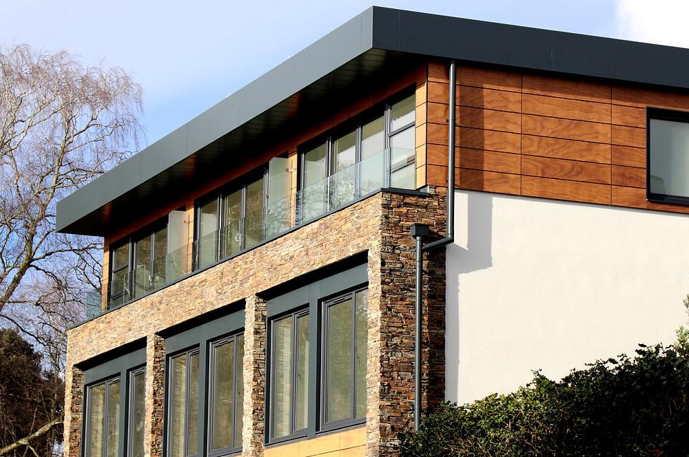 Aluminium fascia, soffit, downpipe, wall coping