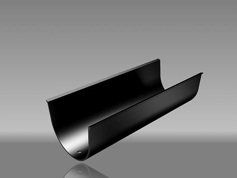 Deep flow aluminium guttering