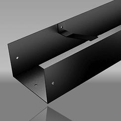 Aluminium joggle box gutter