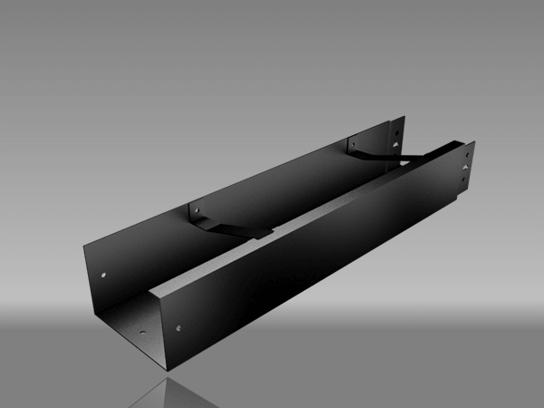 Black Aluminium Box Gutter