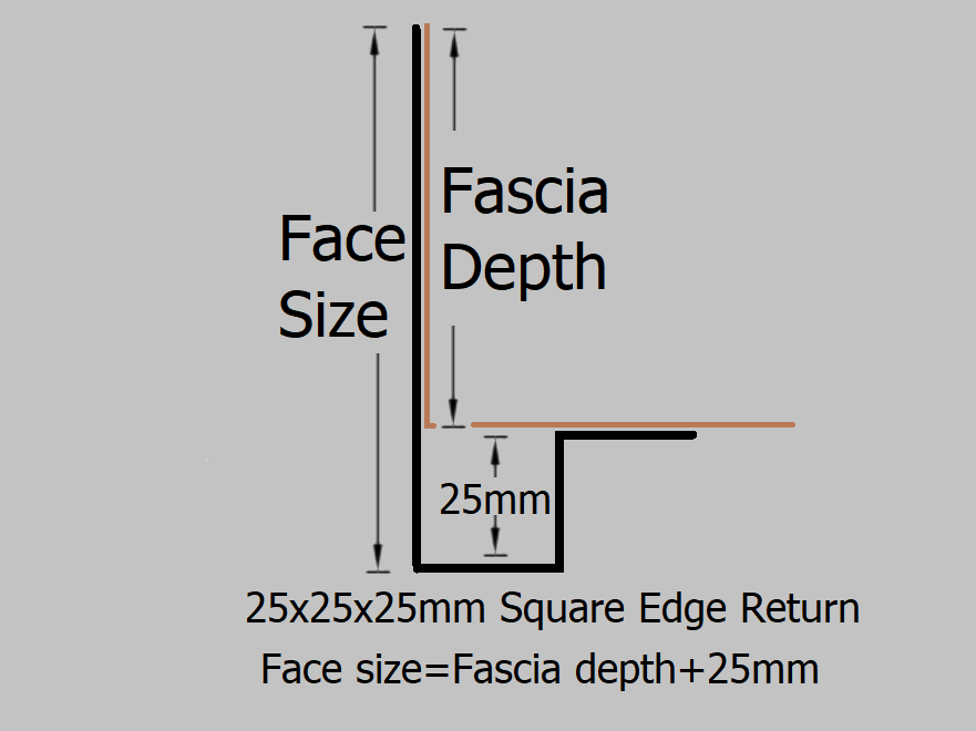 330 370mm Modern Fascia External 90 Degree Angle Select