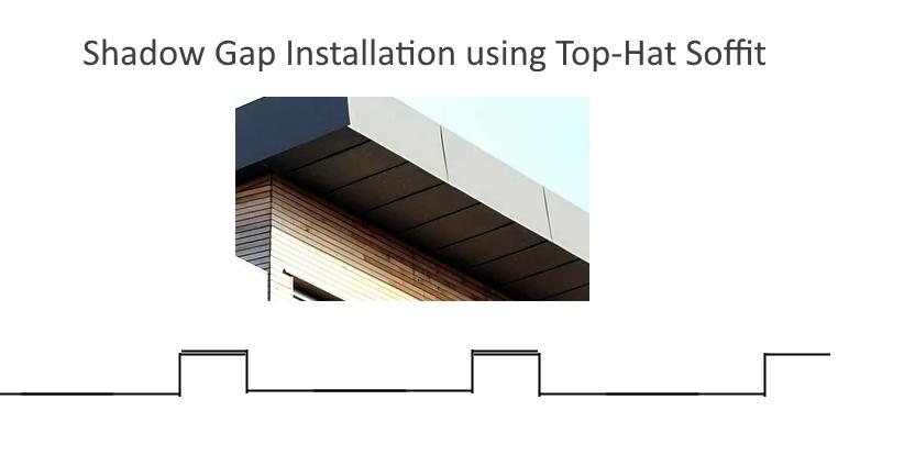 Shadow Gap Installation Using Top Hat Soffit