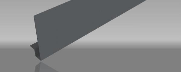 Aluminium fascia square edge profile