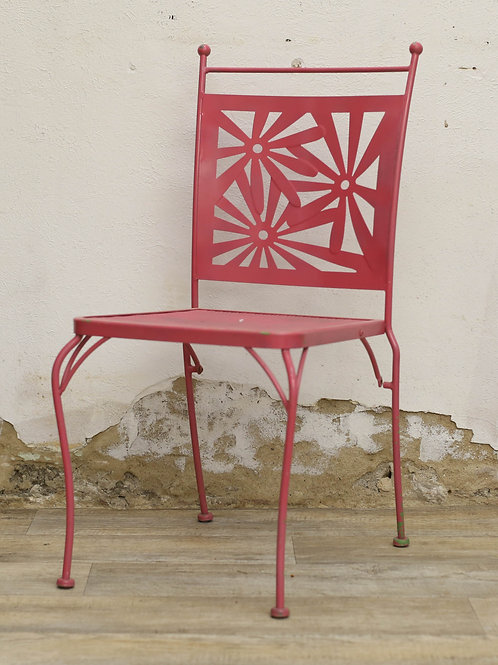 Metal Flower Chair (Pink)