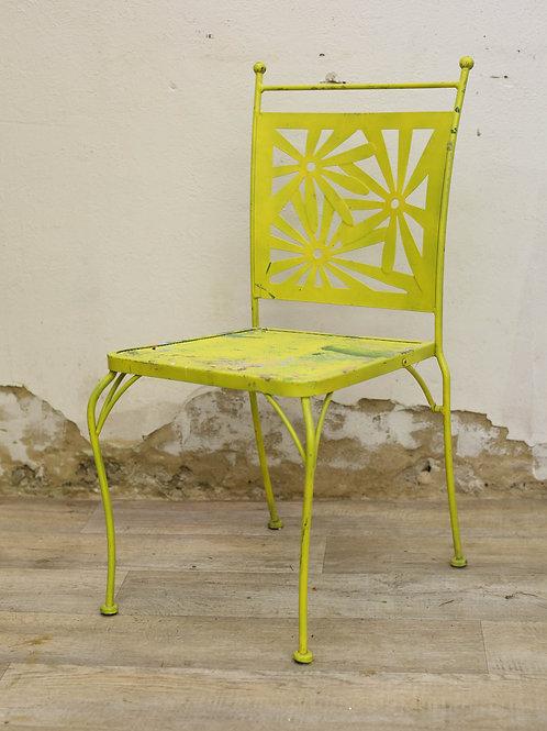 Metal Flower Chair (Yellow)