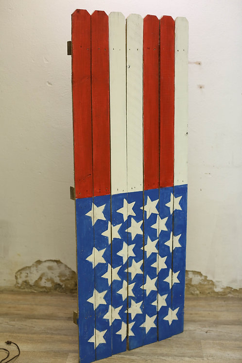 American Flag Wooden Hinged Backdrop