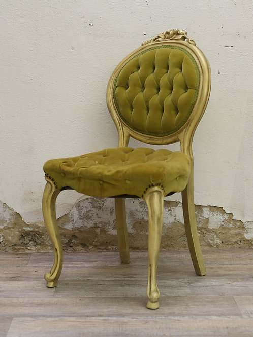 Yellow/Green Round Back Chair