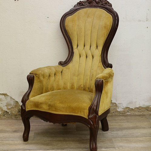 Mustard High-Back Chair
