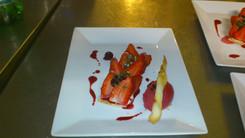 Tarte aux fraises, glace cerise griotte