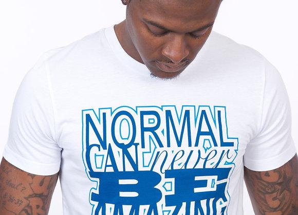 Normal Never Amazing (white/navy/light blue)