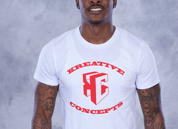 Kreative Concepts Logo (White/Red)