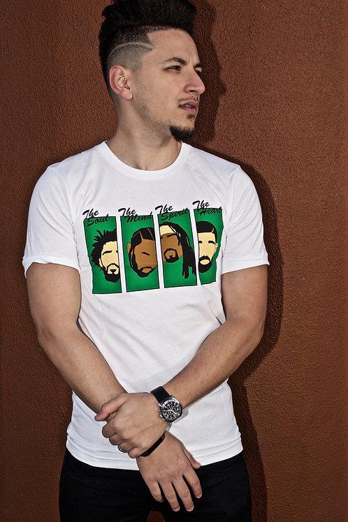 Rapper Heads Tee (White/Green)