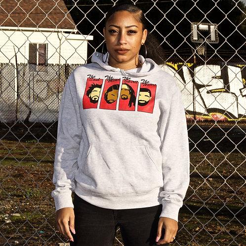 Rapper Heads Hoodie (Grey/Red)